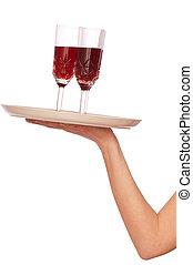 Drei Gläser Champagner