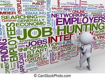 Drei Männer suchen Arbeit