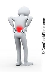 Drei Mann Rückenschmerzen