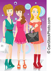 Drei Modemädchen