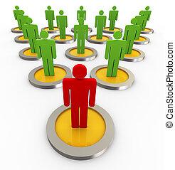 Drei Punkte Führungsqualitäten