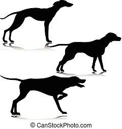 Drei schwarze Hundevektoren
