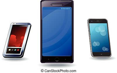 Drei Smartphones.