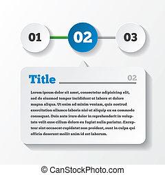 Drei Stufen Ladepapier. Design für Infographien