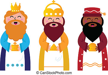 Drei weise Männer bringen Geschenke an Ch