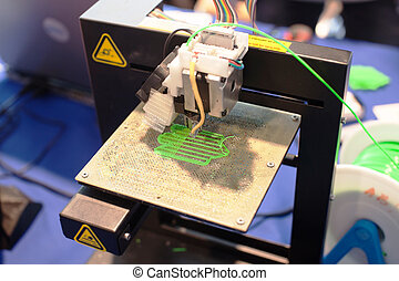 Dreidimensionale Druckmaschine.