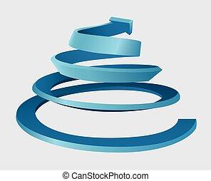 Dreidimensionale Spirale.