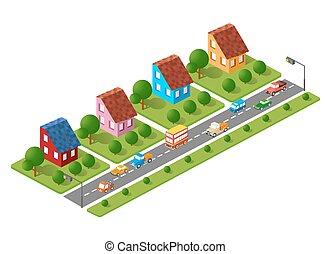 Dreidimensionale Stadt.