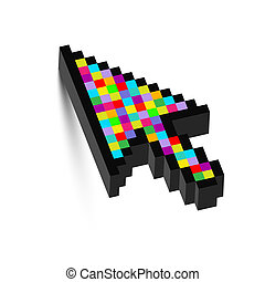 Dreidimensionaler farbenfroher Pfeil