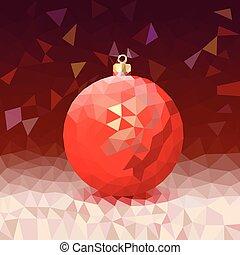 Dreieck mit hellem Weihnachtsball