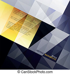 Dreiecke im Hintergrund deaktivieren. Blau und gelb. Vector, EPS10