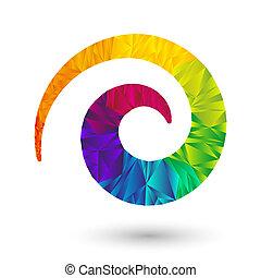 dreieckig, spirale