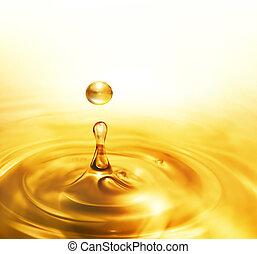 Drippendes Öl.
