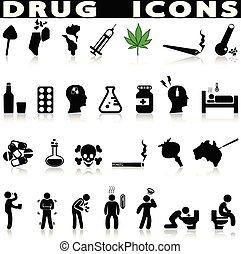 Drogen-Ikonen eingestellt.
