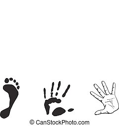 Druck aus Hand und Fuß
