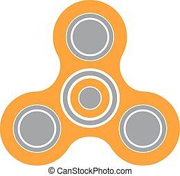druck- spielzeug, spanne, aufmerksamkeit, verbesserung, spinner, erleichterung, ikone, fidget