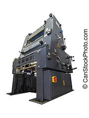 Druckmaschine isoliert auf weiß