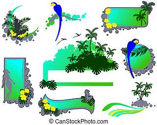 Dschungelgrange-Stilelemente