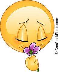 Duftende Blumen-Emoticon.