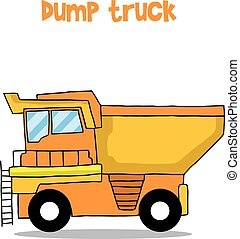 Dump Truck Cartoon Vektorkunst.