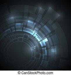 dunkel blau, abstrakt, technisch, hintergrund