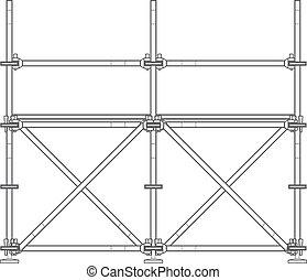 Dunkle Kontur-Abbildung.