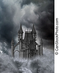 Dunkles Schloss.