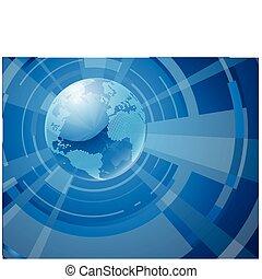 Dynamic 3d Weltkugel Hintergrund