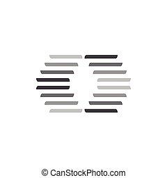 dynamisch, steigung, streifen, vektor, logo