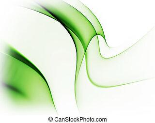 Dynamischer grüner abstrakter Hintergrund auf weiß