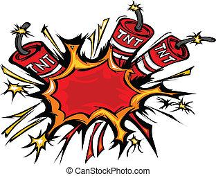 Dynamitexplosion Cartoon Vektor I.