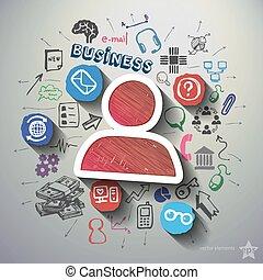 E-Commerce Collage mit Icons Hintergrund