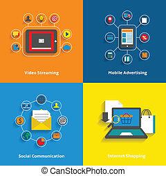 E-Commerce Icons gesetzt.