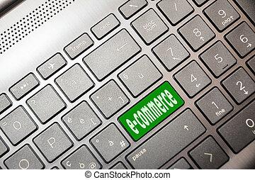 e-commerz, text, grün, edv, taste
