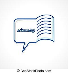E-Learning-Konzept Aktienvektor.