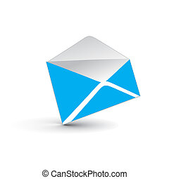 e-mail, 3d, ikone