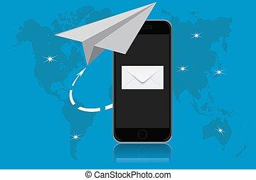 E-Mail, Kommunikation, Vektor.