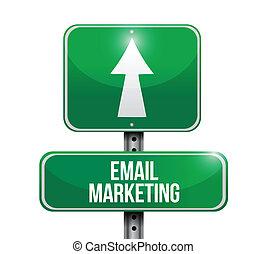 E-Mail Marketing Zeichen Illustration Design.