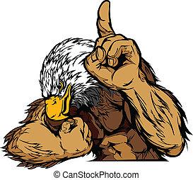 Eagle Maskottchen-Körpervektor Cartoon