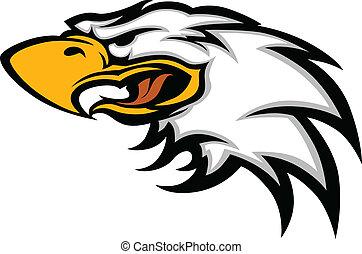 Eagle-Maskottchen-Kopfgrafik