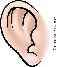 Ear Körperteil.
