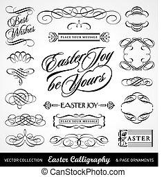 Easter Calligraphy Set (vektor)