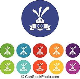 Eco Aubergine Icons setzen Vektorfarbe.
