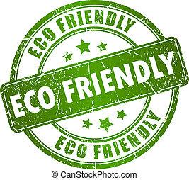 Eco-freundlicher Vektorstempel
