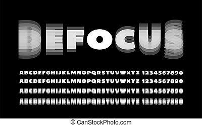 effekt, zahlen, heraus, fokus, alphabet