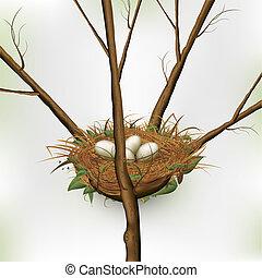 Ei im Nest