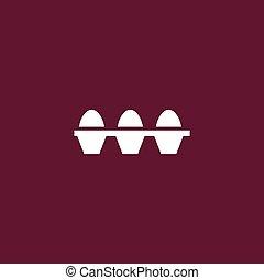 Eier setzen Symbol einfache Illustration.