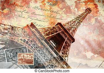 Eiffelturm Paris, abstrakte Kunst.