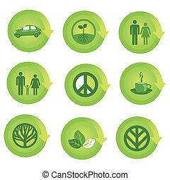 Ein ökologisches Symbolset