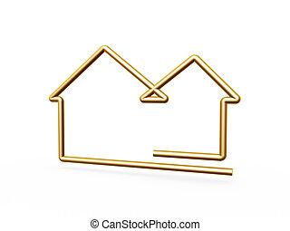 Ein 3-D-Gold-Symbol